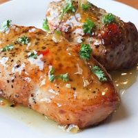 Honey Garlic Air Fryer Pork Chops