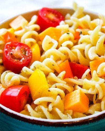 Summer Pasta Salad with No Meat
