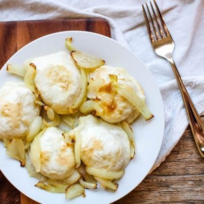 Air Fryer Pierogies With Onions