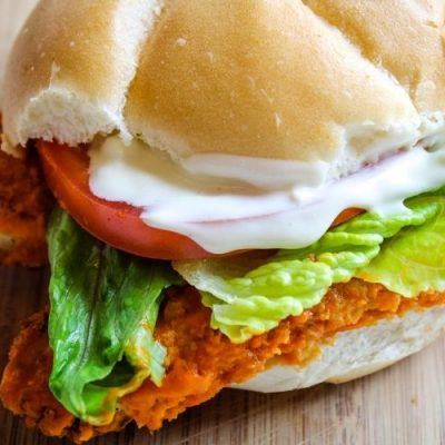 Easy Buffalo Chicken Sandwich With Blue Cheese