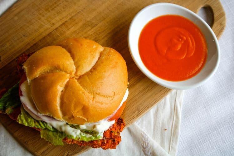 Delicious Buffalo Chicken Sandwich