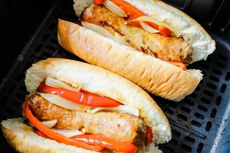 Italian Sausage Sandwiches in Air Fryer