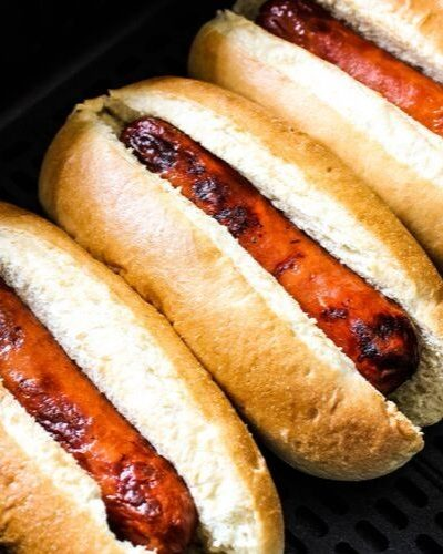 Hot Dogs in Buns in Air Fryer