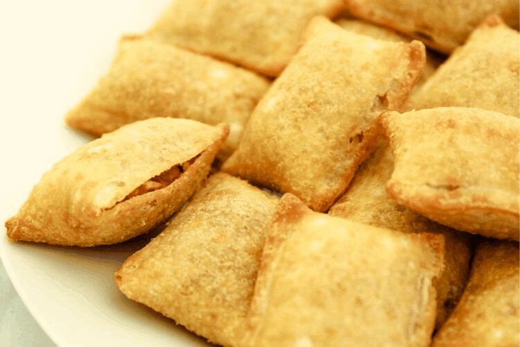 Closeup of Pizza Rolls
