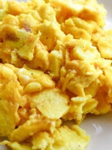 Air Fryer Scrambled Eggs