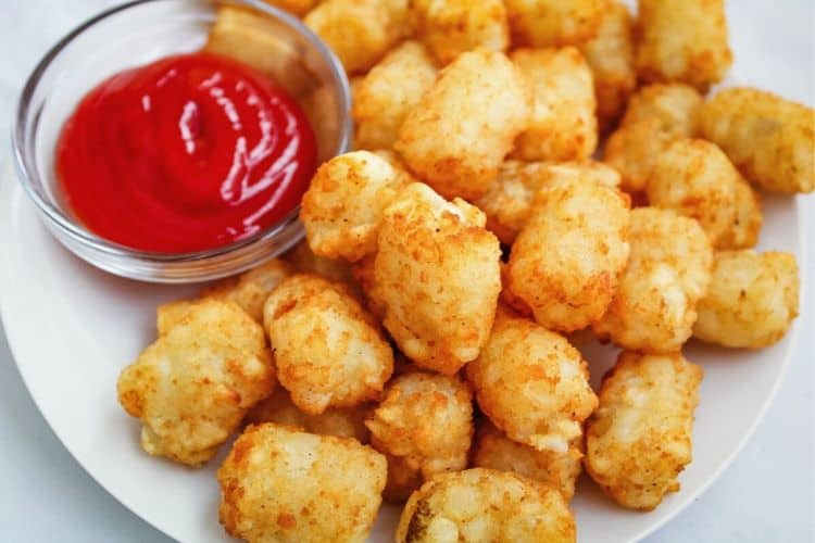Tater Tots with Ketchup
