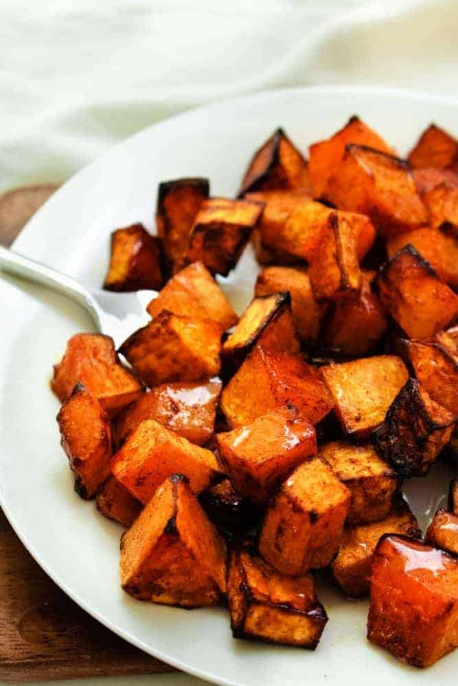 Air Fryer Butternut Squash Plated