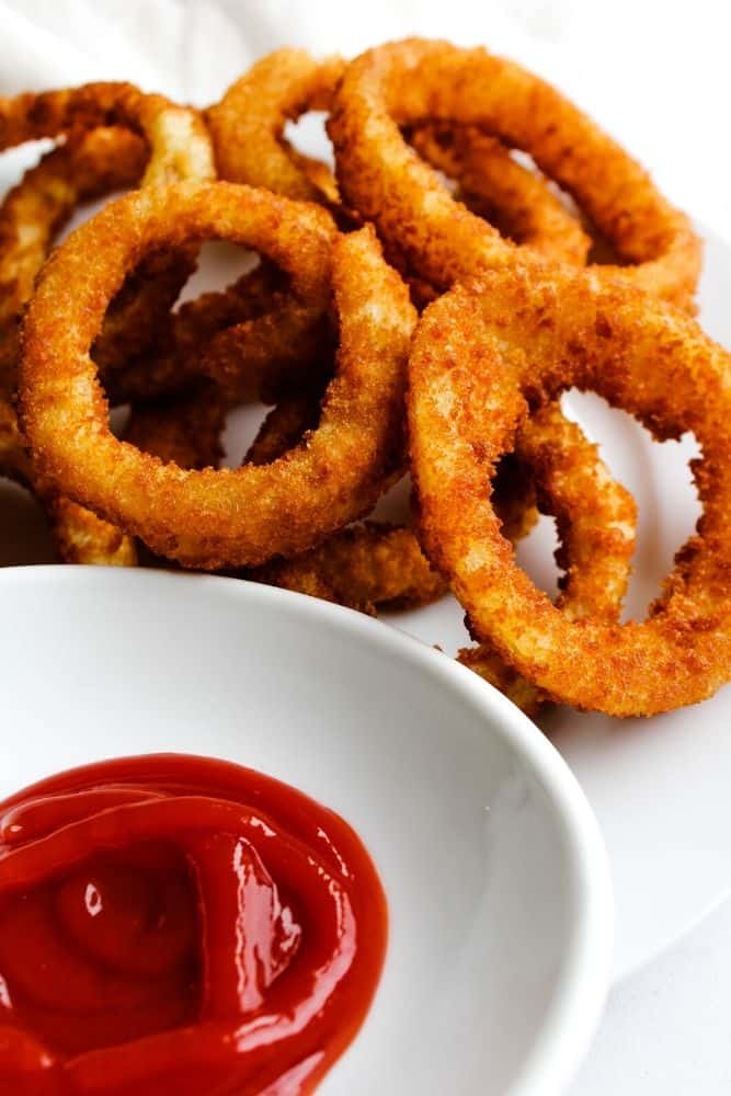 Onion Rings on Plate