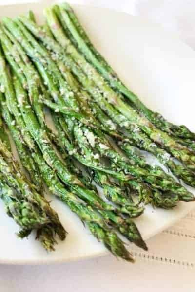 Air Fried Asparagus with Garlic and Parmesan