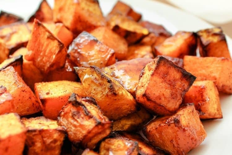 Air Fryer Honey Cinnamon Butternut Squash