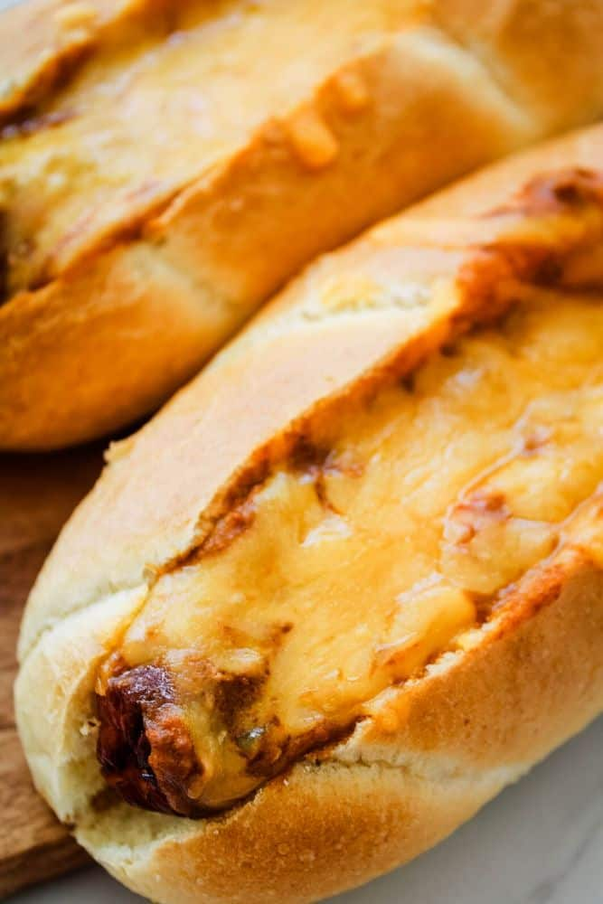 Hot Dogs with Chili and Cheese