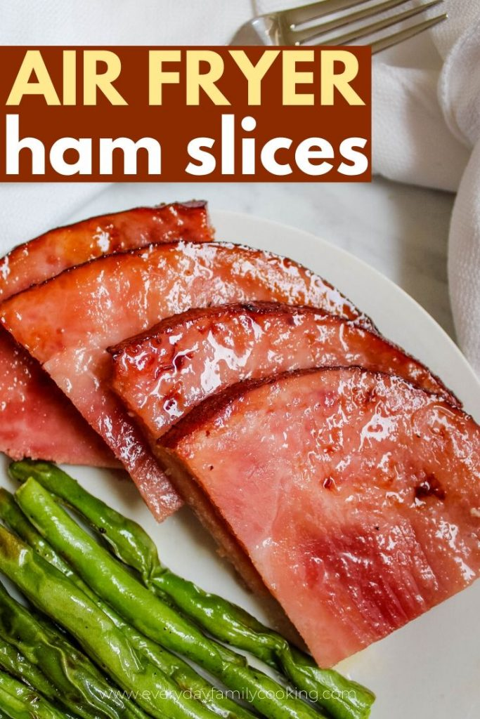 Ham Slices with Green Beans