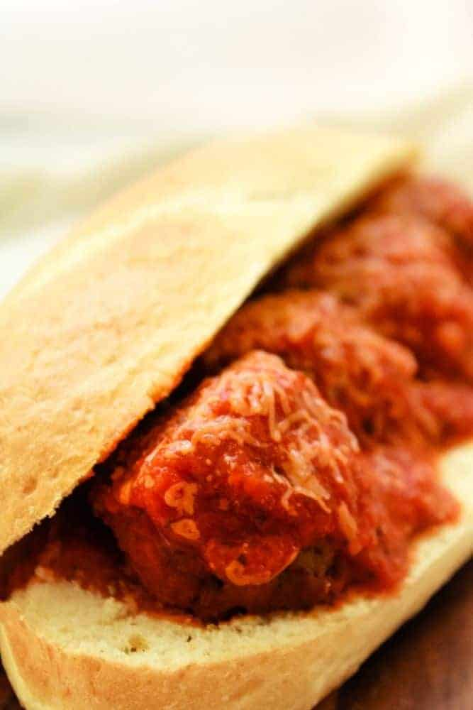Air Fryer Meatball Parm Sub