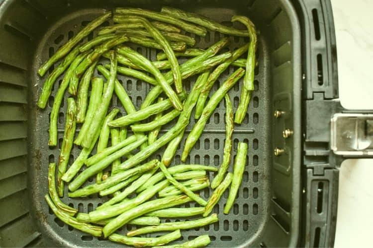 Green Beans inside Air Fryer