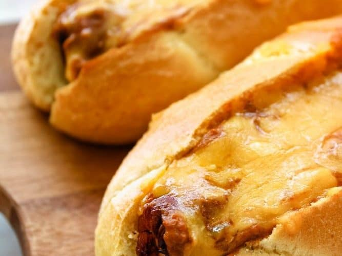 Chili Cheese Air Fryer Dogs
