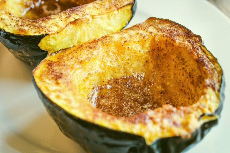 Roasted Acorn Squash with Brown Sugar and Cinnamon