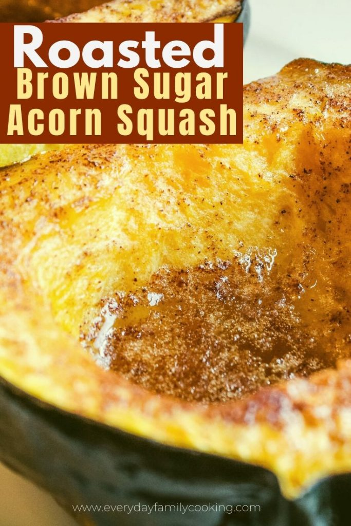 Title and Shown: Roasted Brown Sugar Acorn Squash