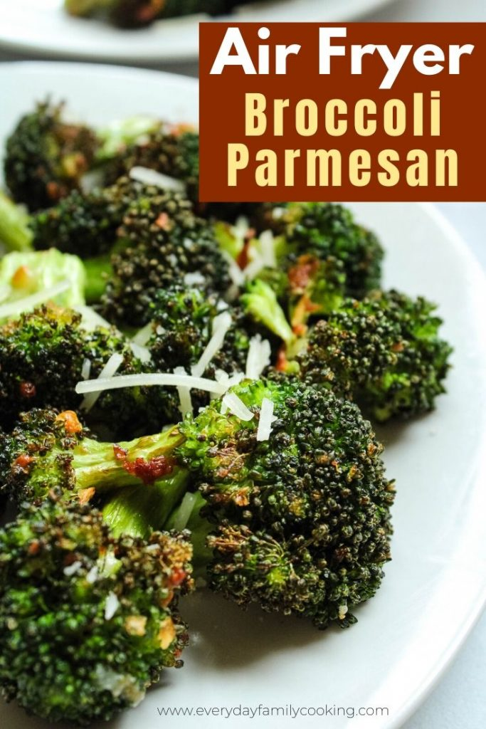 Air Fryer Broccoli Parmesan