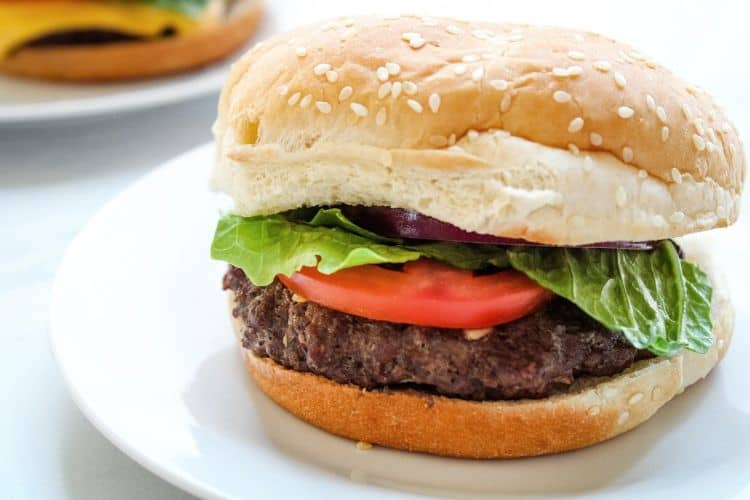 Air Fryer Hamburger on Bun