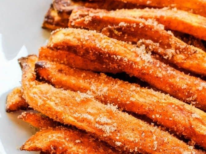 air fryer sweet potato dessert fries