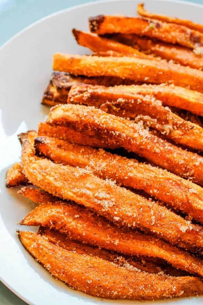 air fryer sweet potato dessert fries