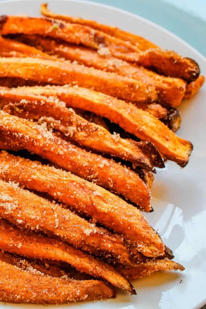 Sweet Potato Fries with Cinnamon Sugar