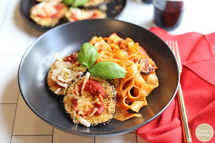Air Fryer Vegan Eggplant Parmesan