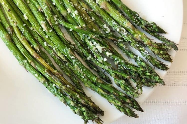 Air Fried Asparagus with Parmesan Cheese