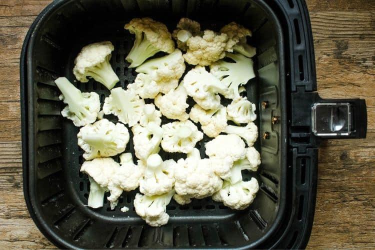 Raw Cauliflower in Air Fryer