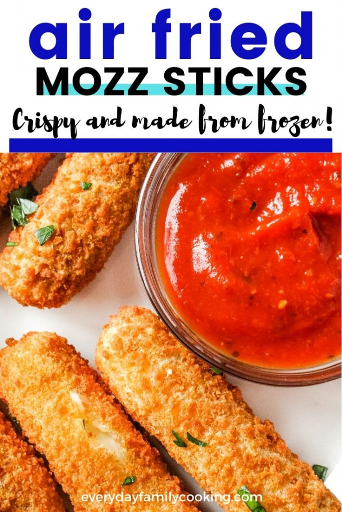 Title and Shown: Air fried mozz sticks; cripsy and made from frozen