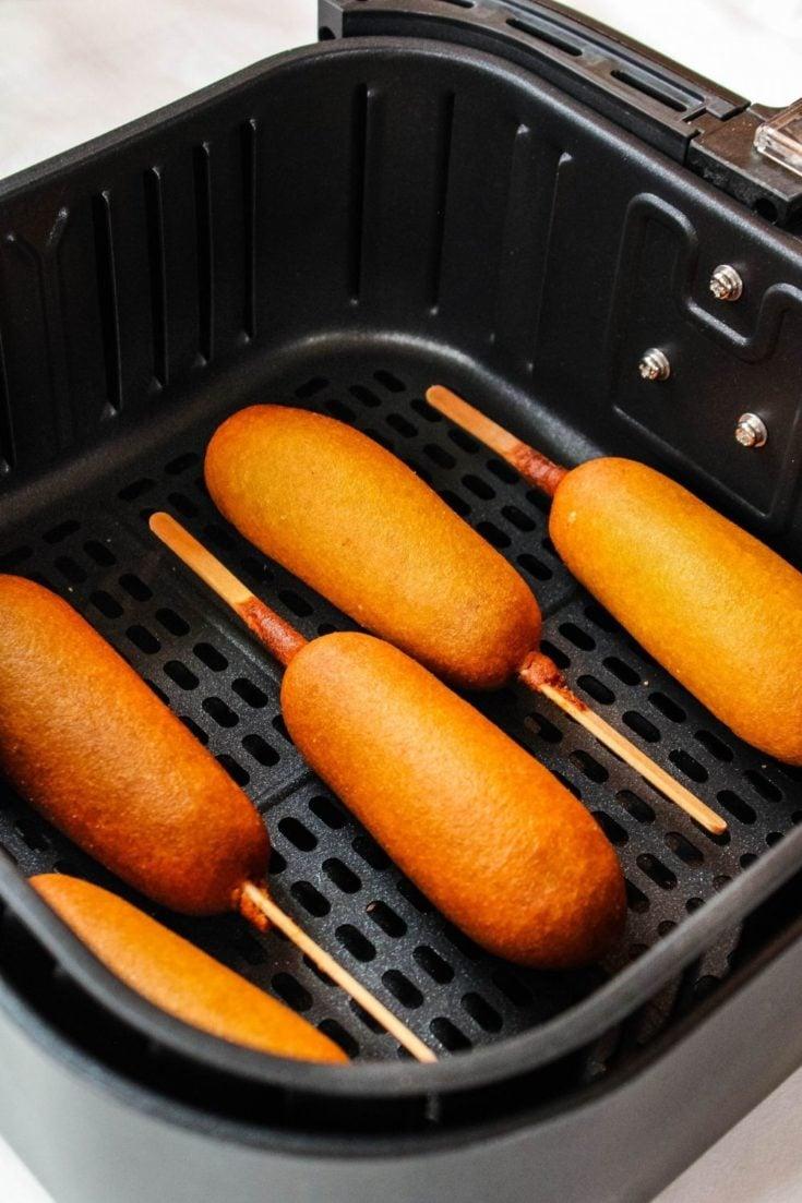 Frozen corn dogs in the air fryer