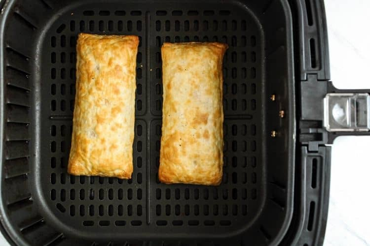 Hot Pockets inside the air fryer