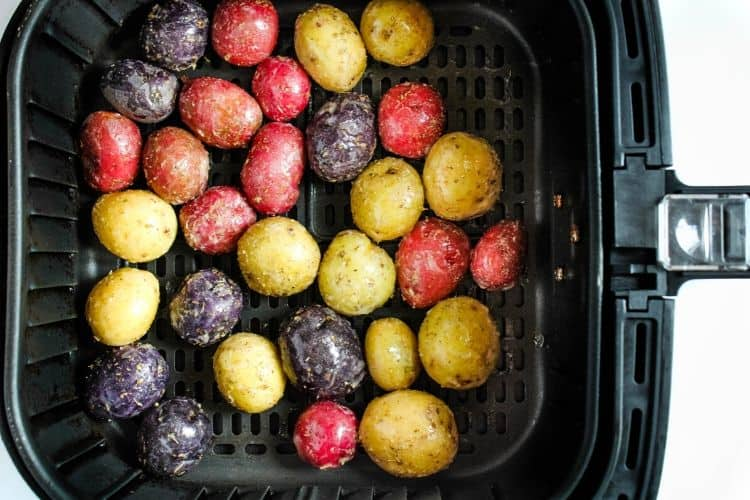 Raw Baby Potatoes in Air Fryer