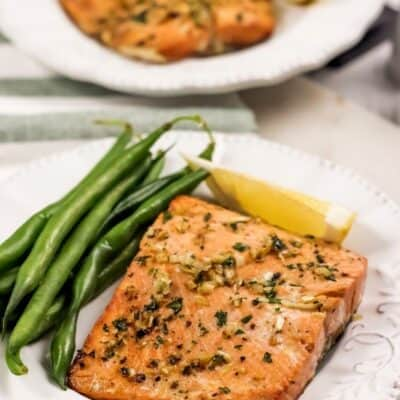 Air Fryer Garlic Butter Salmon