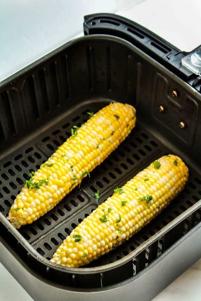 Corn on the Cob inside the air fryer