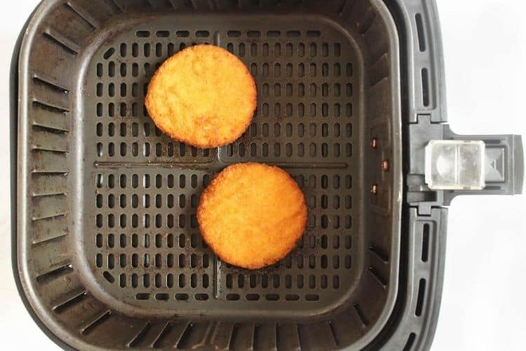 Frozen Chicken Patties in air fryer