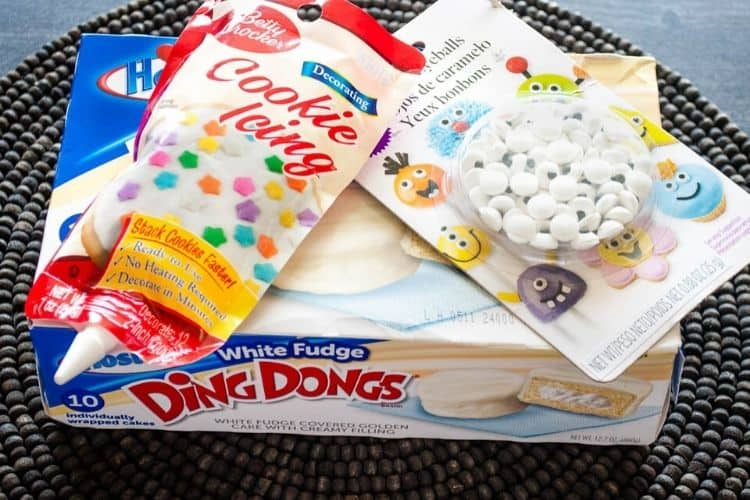 White Ding Dongs, Candy eyes, and Cookie Icing image