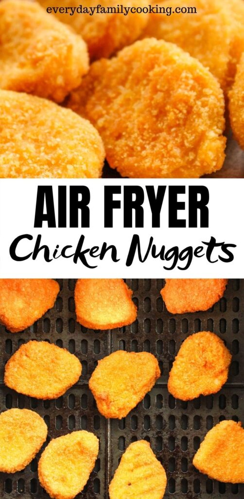 Title and Shown: Air Fryer Chicken Nuggets (in an air fryer)