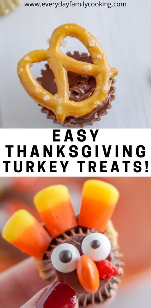 Title and Shown: Easy Thanksgiving Turkey Treats (closeup)