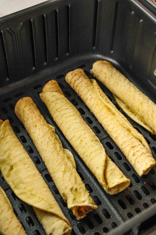 Frozen taquitos in the air fryer