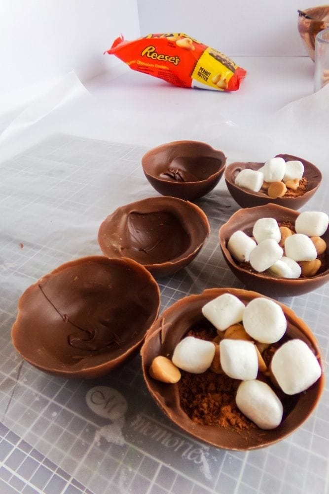 Hot Cocoa Balls with marshmallows inside