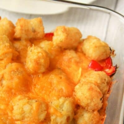 Tater Tot Casserole with No Meat