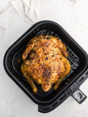 Cooked whole chicken in the air fryer