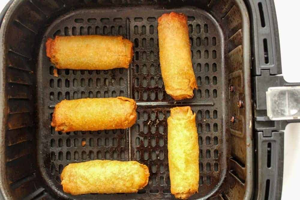 Cooked Egg Rolls in the Air Fryer