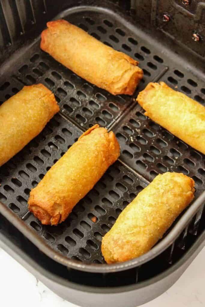 Air Fryer Frozen Egg Rolls in Air Fryer