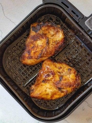 Cooked bone in chicken in air fryer
