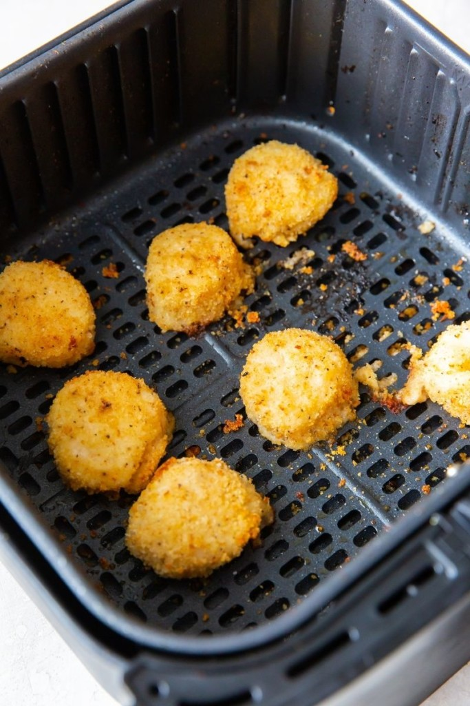 Cooked scallops in air fryer