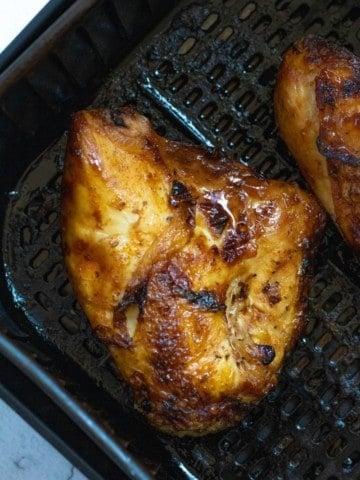 Bone in chicken breast in an air fryer