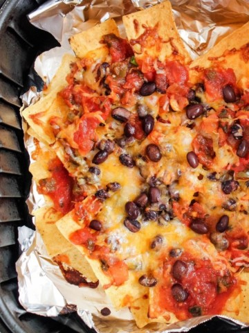 Nachos with Foil in the Air Fryer